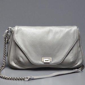 TYLIE MALIBU Grey Leather Cross Body Bag NWT